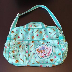 "Vintage ""Cutie Pie"" Bear Sports Theme Diaper Bag"